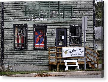 Robin's Nest Store In Autumn Michigan Usa Canvas Print by Sally Rockefeller