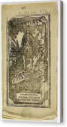Robinson Crusoe Canvas Print by British Library
