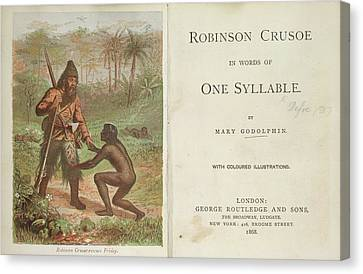 Robinson Crusoe Rescues Friday Canvas Print by British Library