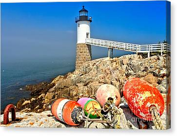 Robinson Point Lighthouse Canvas Print by Adam Jewell