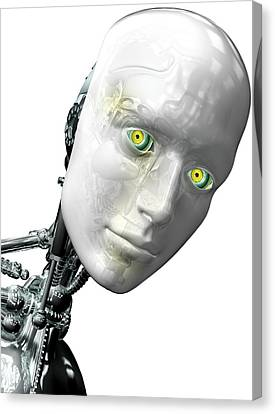 Robot Head Canvas Print by Claus Lunau