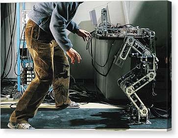 Robot Locomotion Research Canvas Print by Peter Menzel