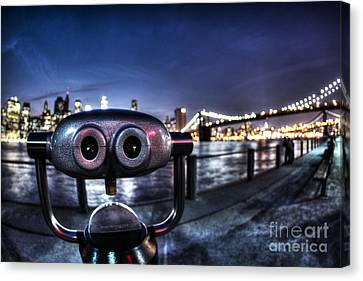 Robot Views Canvas Print by Andrew Paranavitana