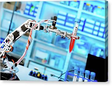 Robotic Lab Assistant Canvas Print