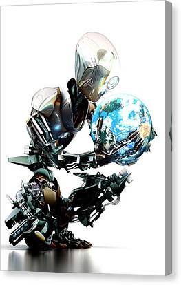 Robotic World Canvas Print by Animate4.com/science Photo Libary