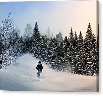 Rob's Run Canvas Print by Ken Ahlering