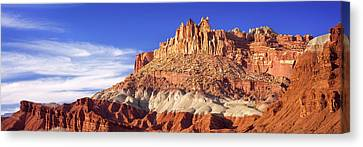 Roc Formations In Capitol Reef National Canvas Print