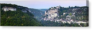 Rocamadour Midi Pyrenees France Panorama Canvas Print