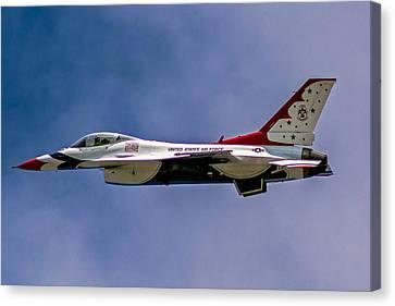 Rochester Air Show Thunderbirds Canvas Print by Tim Buisman