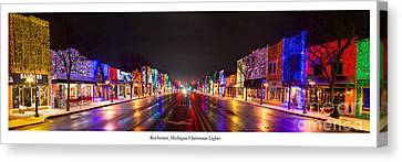 Rochester Christmas Lights Canvas Print by Twenty Two North Photography