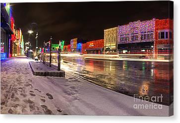Rochester Michigan Christmas Light Display Canvas Print