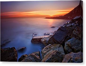 Rock A Nore Hastings Canvas Print by Mark Leader