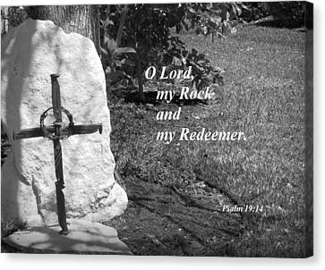 Rock And Redeemer Canvas Print by Ella Kaye Dickey