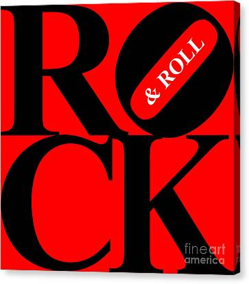 Rock And Roll 20130708 Black Red White Canvas Print by Wingsdomain Art and Photography