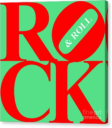 Rock And Roll 20130708 Red Green White Canvas Print by Wingsdomain Art and Photography