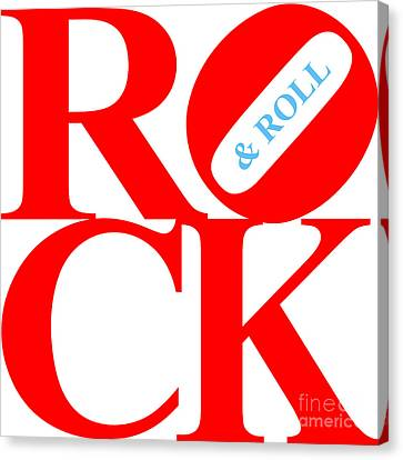Rock And Roll 20130708 Red White Blue Canvas Print by Wingsdomain Art and Photography