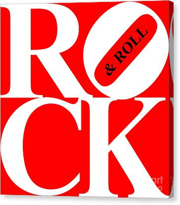 Rock And Roll 20130708 White Red Black Canvas Print by Wingsdomain Art and Photography