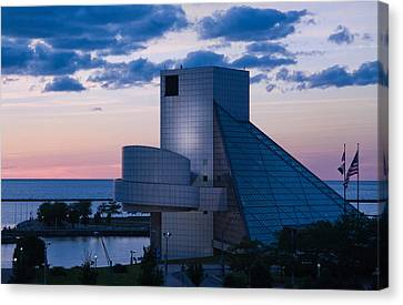 Rock And Roll Hall Of Fame Canvas Print by Dale Kincaid