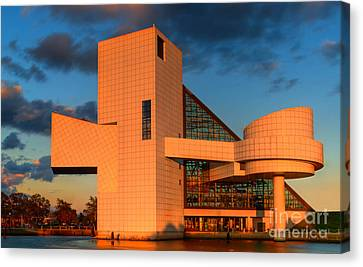 Canvas Print featuring the photograph Rock And Roll Hall Of Fame by Jerry Fornarotto