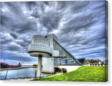 Rock And Roll Hall Of Fame Canvas Print by Shawn Everhart