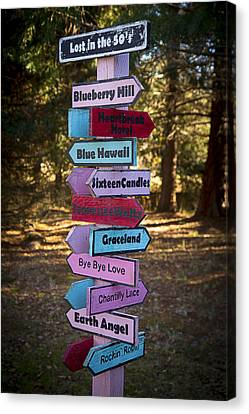 Rock And Roll Music Signs Canvas Print