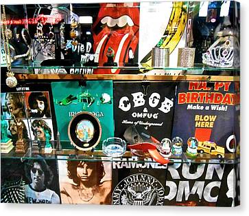 Canvas Print featuring the photograph Rock And Roll On St. Marks   Nyc by Joan Reese