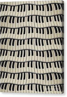 Rock And Roll Piano Keys Canvas Print by Phil Perkins
