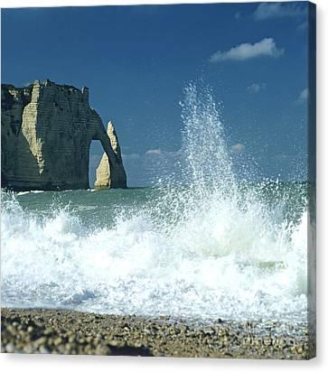 Rock Arch. Etretat. Seine-maritime. Normandy. France. Europe Canvas Print by Bernard Jaubert
