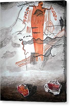 Rock Art Canvas Print