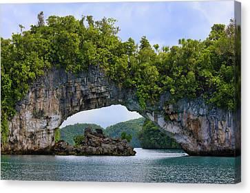 Rock Bridge, Rock Islands, Palau Canvas Print by Keren Su