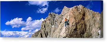 Rock Climber Grand Teton National Park Canvas Print by Panoramic Images