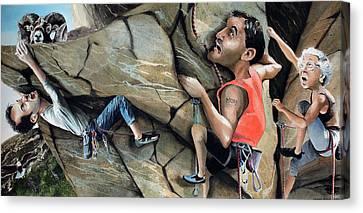 Rock Climbers Canvas Print by Denny Bond
