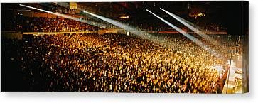 Rock Concert Interior Chicago Il Usa Canvas Print by Panoramic Images