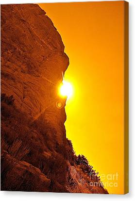 Rock Eclipse  Canvas Print by Gem S Visionary