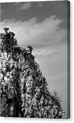 Rock Face At St. Hillarion Canvas Print by Jim Vance