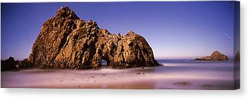 Rock Formation On The Beach, One Hour Canvas Print