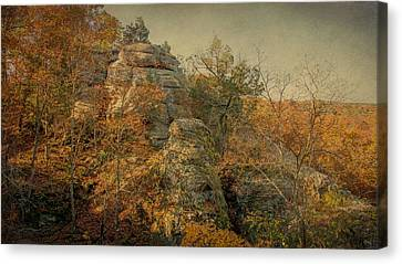 Rock Formation Canvas Print by Sandy Keeton