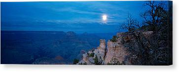 Rock Formations At Night, Yaki Point Canvas Print