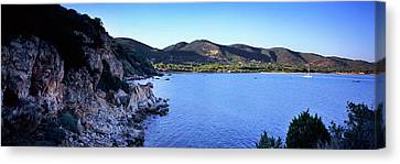 Rock Formations At Seaside, Golfo Canvas Print