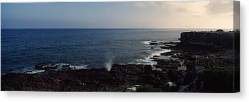 Rock Formations At The Coast, Punta Canvas Print by Panoramic Images