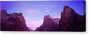 Rock Formations, Court Of Patriarchs Canvas Print by Panoramic Images