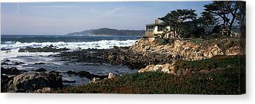 Rock Formations In The Sea, Carmel Canvas Print