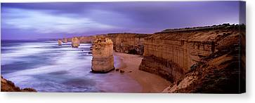 Rock Formations In The Sea, Twelve Canvas Print by Panoramic Images