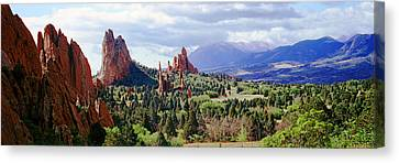 Rock Formations On A Landscape, Garden Canvas Print by Panoramic Images