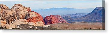 Rock Formations On A Landscape, Red Canvas Print
