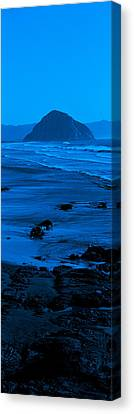 Rock Formations On The Beach, Morro Canvas Print