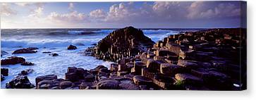Rock Formations On The Coast, Giants Canvas Print by Panoramic Images