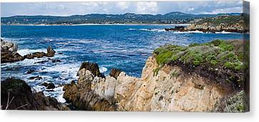Rock Formations On The Coast, Point Canvas Print by Panoramic Images