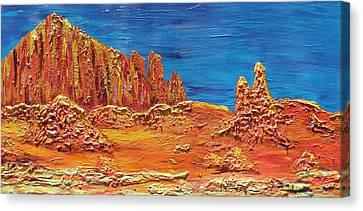Rock Grove Canvas Print by Marcia Weller-Wenbert