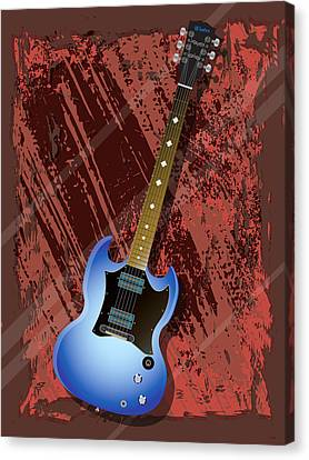 Canvas Print - Rock Guitar by Lee Wolf Winter